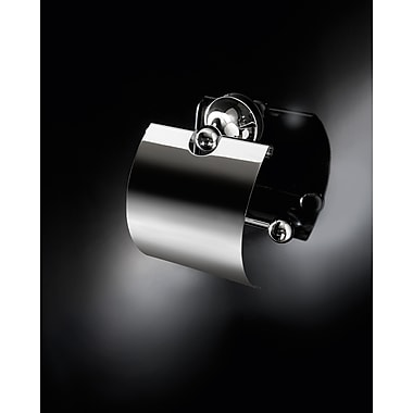 WS Bath Collections Vanessia Wall Mounted Toilet Paper Holder w/ Cover