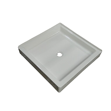 American Acrylic Acrylic Double Threshold Shower Base; White