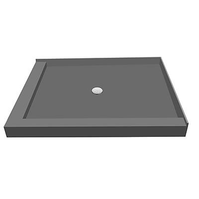 Tile Redi Double Threshold Shower Base w/ Drain Plate; 5.75'' H x 42'' W x 36'' D