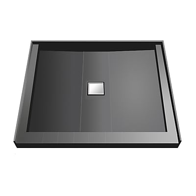 Tile Redi Triple Threshold Shower Base; 5.75'' H x 42'' W x 42'' D