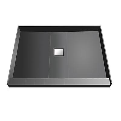 Tile Redi Single Threshold Shower Base w/ Center Drain; 5.75'' H x 48'' W x 48'' D