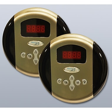 Steam Spa SteamSpa Programmable Dual Control Panels; Brushed Nickel