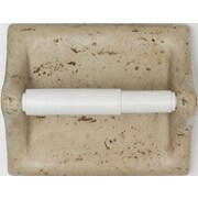Mohawk Classic Wall Mounted Travertine Resin Toilet Paper Holder w/ Plastic Roller