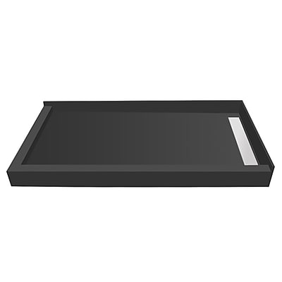 Tile Redi Plank Pitch Double Threshold Shower Base w/ Drain Cover; 5.75'' H x 48'' W x 30'' D