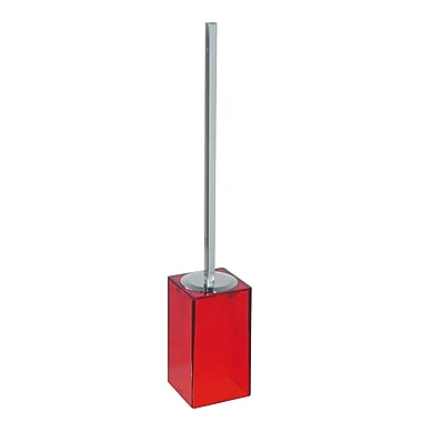 WS Bath Collections Gigi Free Standing Toilet Brush and Holder; Red