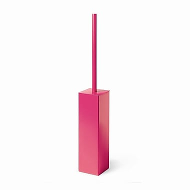 WS Bath Collections Complements Skoati Free Standing Toilet Brush and Holder; Fuchsia