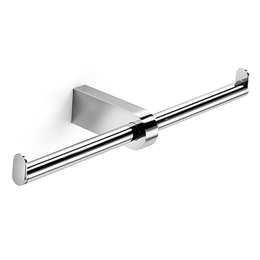 WS Bath Collections Muci Wall Mounted Double Toilet Paper Holder