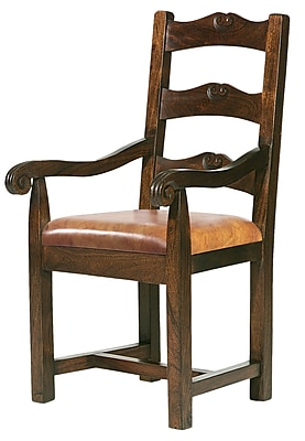William Sheppee Tuscan Genuine Leather Upholstered Dining Chair; Vintage
