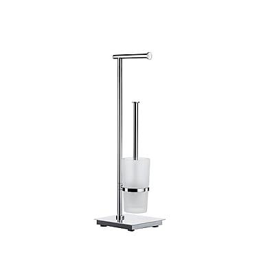 Smedbo Outline Lite Free Standing Toilet Roll Holder and Brush