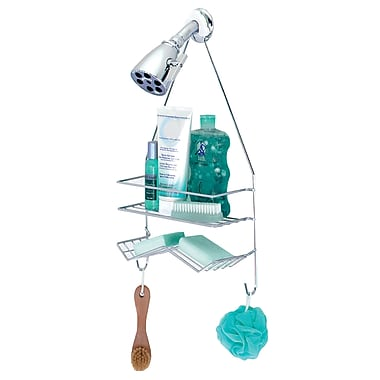 Zenith Large Head Shower Caddy; Stainless Steel