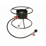 King Kooker Heavy Duty Portable Propane Outdoor Cooker Package w/ Flat Top
