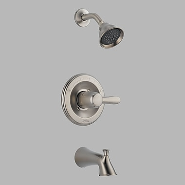 Delta Lahara Tub and Shower Faucet Trim w/ Lever Handles; Brilliance Stainless