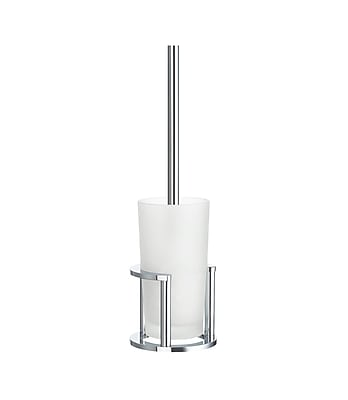 Smedbo Outline Free Standing Toilet Brush and Holder; Brushed Chrome