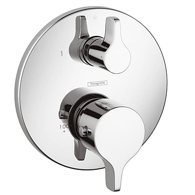 Hansgrohe Thermostatic Volume Control and Diverter Faucet Trim w/ Lever Handle; Chrome