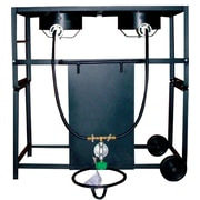 King Kooker Two Burner Outdoor Cooking Cart Package
