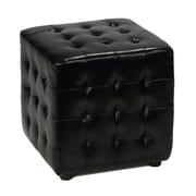 Cortesi Home Izzo Cube Ottoman; Black