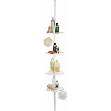 Better Living Products Ulti-Mate Soap Dispensers Shower Caddy; White