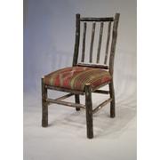 Flat Rock Furniture Berea Rail Back Side Chair; Stripe