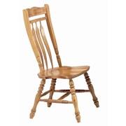 Sunset Trading Sunset Selections Aspen Comfort Back Side Chair (Set of 2); Rich Honey Light Oak