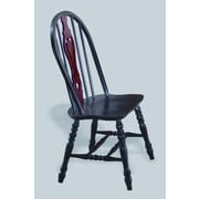 Sunset Trading Sunset Selections Keyhole Back Side Chair (Set of 2); Antique Black / Cherry