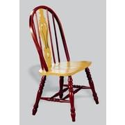 Sunset Trading Sunset Selections Keyhole Back Side Chair (Set of 2); Nutmeg / Rich Honey Light Oak