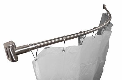 Bradley Corporation 60'' Curved Shower Curtain Rod; Satin