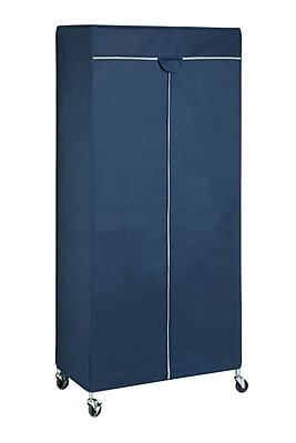 Honey Can Do Non-Woven Fabric Garment Rack Cover, Blue (GAR-02198)