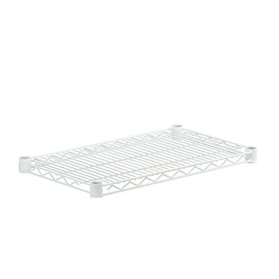 Honey Can Do Powder Coated Wire Steel Shelf, white (SHF800W1424)