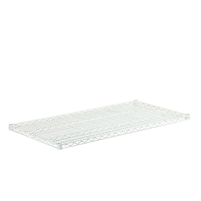 Honey Can Do Powder Coated Wire Shelf Steel White, white (SHF800W2448)