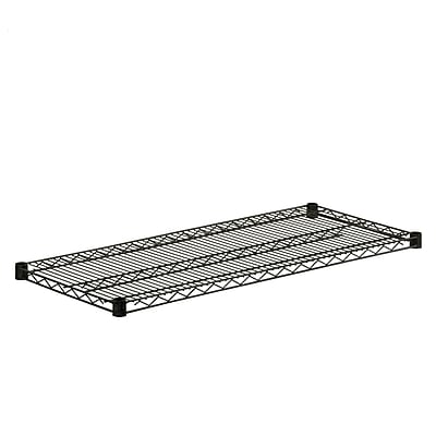 Honey Can Do Powder Coated Wire Shelf Steel, black (SHF800B1636)