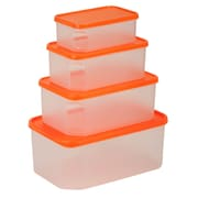 Honey Can Do 4 Piece Rectangular Food Storage Container Set, clear (KCH-03834)