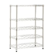 Honey-Can-Do Steel Wine Rack, 4 Tier, Chrome (SHF-03617)