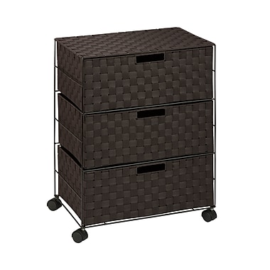 Honey-Can-Do Double Drawer Woven Fabric Storage Organizer Espresso Brown