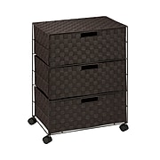 Honey-Can-Do Double Drawer Woven Fabric Storage Organizer, Espresso Brown