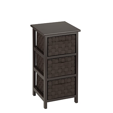 Honey Can Doo 3-Drawer Woven Fabric Storage Organizer Brown, espresso (OFC-03716)