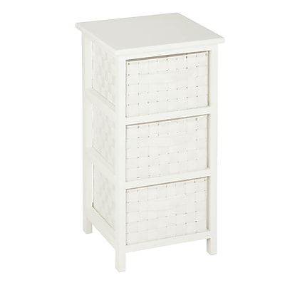 Honey Can Do 3-Drawer Woven Fabric Storage Organizer, White(OFC-03717)