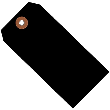 BOX 4 3/4  x 2 3/8  #5 Plastic Shipping Tags, Black