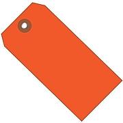 "BOX 6 1/4"" x 3 1/8"" #8 Plastic Shipping Tags, Orange"
