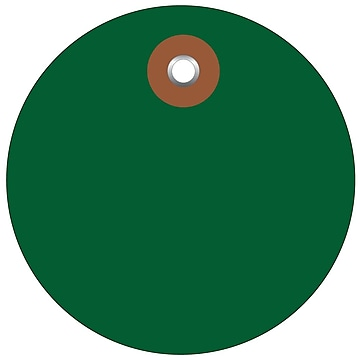 BOX 3  Plastic Circle Tags, Green