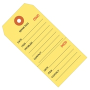 """BOX 4 3/4"""" x 2 3/8"""" #5 Consecutively Numbered Repair Tags, Yellow"""