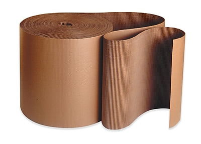 "Box Partners Singleface Kraft Corrugated Roll, 250' x 72"" (CRCSF72)"