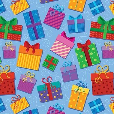 2 Sheet Flat Birthday Wrap, Presents, 12/Pack