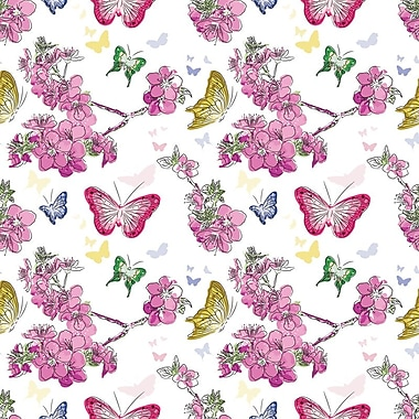 2 Sheet Flat Feminine Wrap, Butterflies, 12/Pack