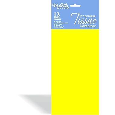 Solid Colour Tissue, Yellow, 12/Pack