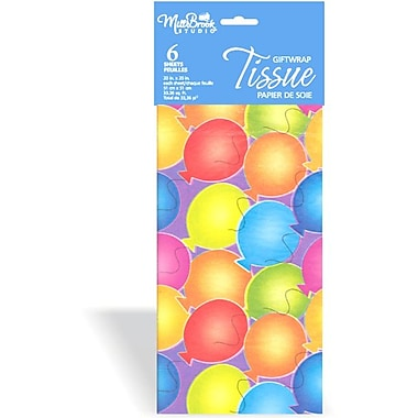Printed 6 Sheet Tissue Paper, Balloons, 12/Pack