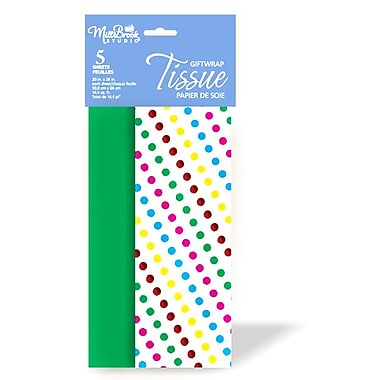 Printed Foil Stamped 5 Sheet Tissue Paper Assortment, 12/Pack