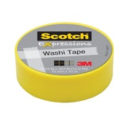 Scotch® Expressions Washi Tape, 15 mm x 10 m, Yellow