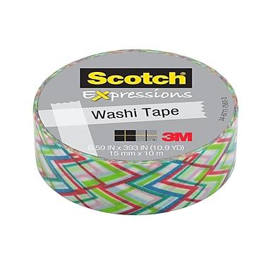 Scotch® Expressions Washi Tape, 15 mm x 10 m, Big Zig