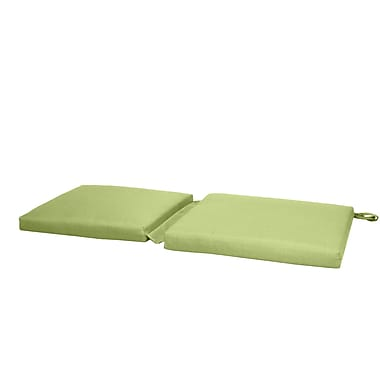 Fiberbuilt Hinge Outdoor Bench Cushion; Green