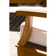 Three Birds Casual Monterey Outdoor Sunbrella Dining Chair Cushion; Natural